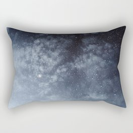 Blue veiled moon Rectangular Pillow