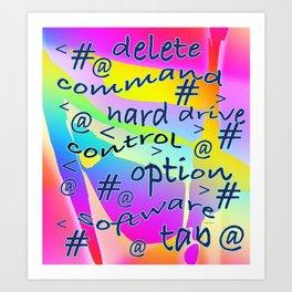 WORDY COMPUTER-ESE Art Print
