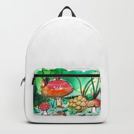Toadstool Mushroom Fairy Land Backpack