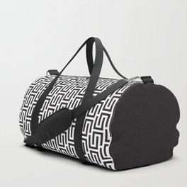 Geometric Pattern #140 (black white) Duffle Bag