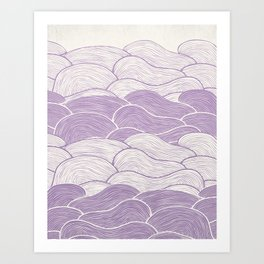 The Lavender Seas Art Print