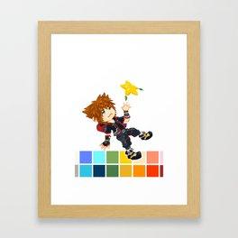 Hero Palette Framed Art Print