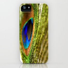 Shimmering Peacock iPhone Case