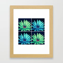 Flowers (blue and green) Framed Art Print