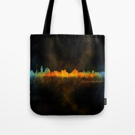 Jerusalem City Skyline Hq v4 Tote Bag