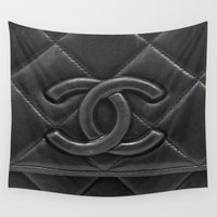 leather Wall Tapestries featuring Leather Logo  by Luxe Glam Decor