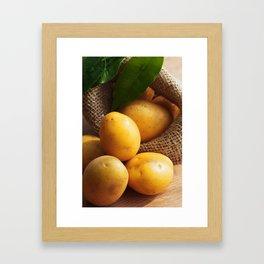 Farmer potato for your Design in the kitchen Framed Art Print