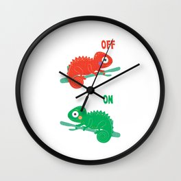 Cute Chameleoff Chameleon Lover Chameleon Mom Chameleon Dad Herpetology Gift Wall Clock