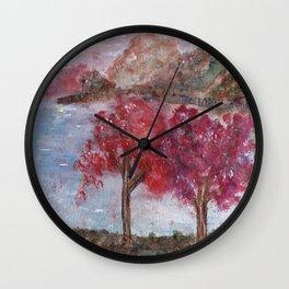 Watercolor Brilliant Night Landscape Wall Clock