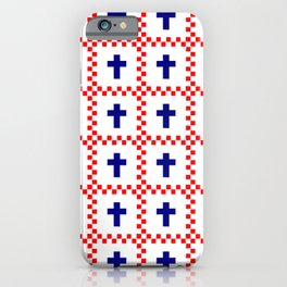 Christian Cross 49 blue and red iPhone Case