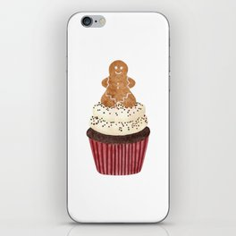 Gingerbread man Cupcake iPhone Skin