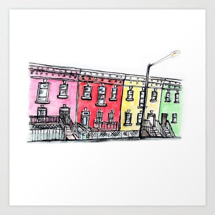 DC row house no. 1 II Columbia Heights Art Print