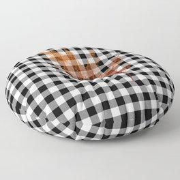 Fall Buffalo Check Floor Pillow