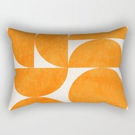 Geometric Shapes orange mid century Rectangular Pillow
