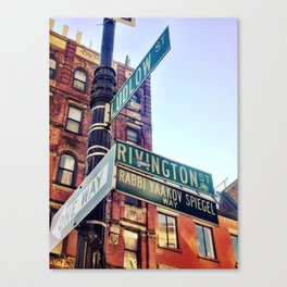 Ludlow and Rivington, Lower East Side Manhattan Canvas Print