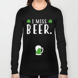 Tee For Beer Lover.Tee For Pregnant Wife Long Sleeve T-shirt