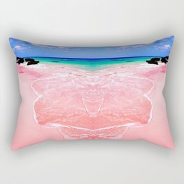 Elafonissi Chania Pink and Turquoise Sea Rectangular Pillow