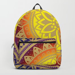 Mandala Infinite Light Spiritual Zen Bohemian Hippie Yoga Mantra Meditation Backpack
