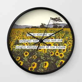 She is clothed with strength and dignity Wall Clock