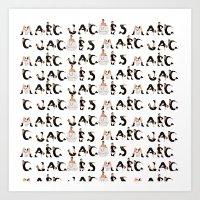 marc jacobs Art Prints featuring Marc Jacobs by cvrcak