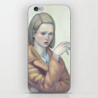tenenbaum iPhone & iPod Skins featuring Margot Tenenbaum by Lek Chan