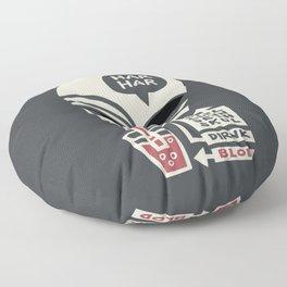 Evel Alein Deth Skul Dirnk Blod Floor Pillow
