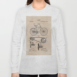 patent Bicycle 1890 Rice Long Sleeve T-shirt