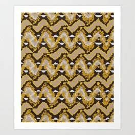 Reticulated Python Repeat Art Print