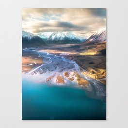 """Ohau Beautiful"" - High above Lake Ohau, New Zealand Canvas Print"