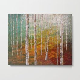 Birch Tree Forest Metal Print