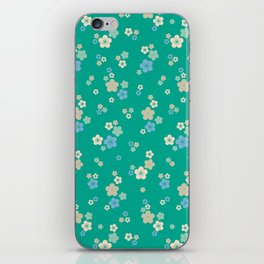 blossom ditsy in emerald iPhone Skin