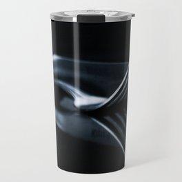 fork on black background Travel Mug