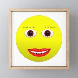 Smiley Brown Eyes Framed Mini Art Print