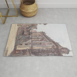 The Capitol In Rome 1835 by Rudolf von Alt | Reproduction Rug