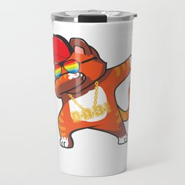 Dab Cat Kitty Meow Present Gift Cat-Lady Fur Travel Mug