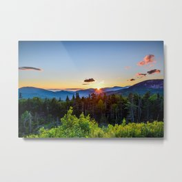 White Mountain Sunset Metal Print