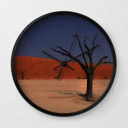Haunting Deadvlei Namibia Africa Wall Clock