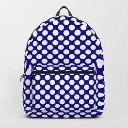 Large White Polkadots on Australian Flag Blue Backpack