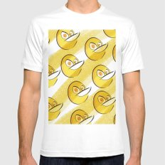 The Quack House Mens Fitted Tee White MEDIUM