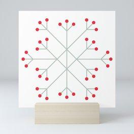 Mod Snowflake Winter Berries Mini Art Print