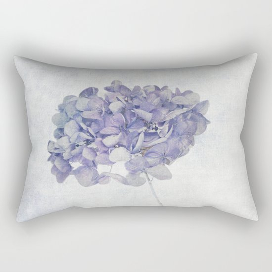 Blue Vintage Hydrangea Rectangular Pillow