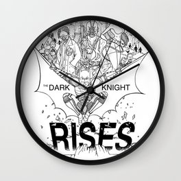TDKR - B&W you're COLOR promo Wall Clock
