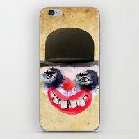 clown iPhone & iPod Skins featuring Clown by Ahmet Hacıoğlu