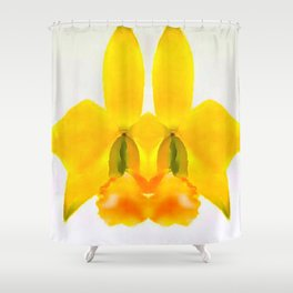 LAELIA PUMILA ABSTRACT BUNNY FACE Shower Curtain