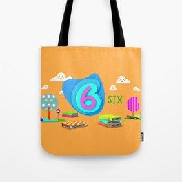 Number six - Kids Art Tote Bag