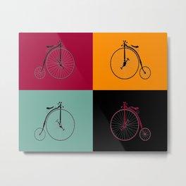 Black Bike Model, Hand made bicycle, Bike miniature, black lacquered, Rolling mechanism Metal Print