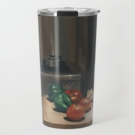 Still Life With Peppers Travel Mug