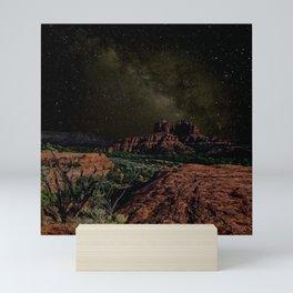 Cathedral Rock under Starlight Mini Art Print