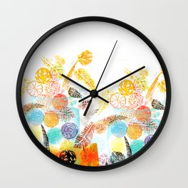 WINTER JAR WITH FRUITS Wall Clock