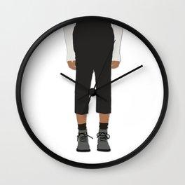 Menswear Fashion Illustration Pant Wall Clock